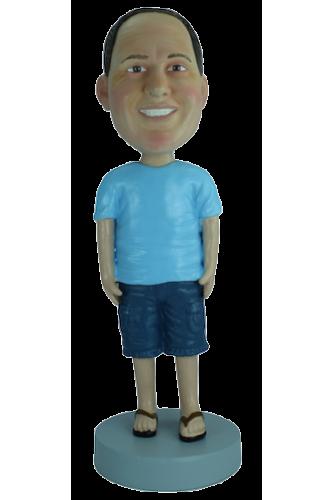 Figurine personnalisée en touriste