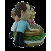 Figurine personnalisée avec un hamburger