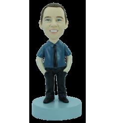Figurine personnalisée en chemise & cravate