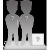 Figurine personnalisée en couple + accessoire taille M