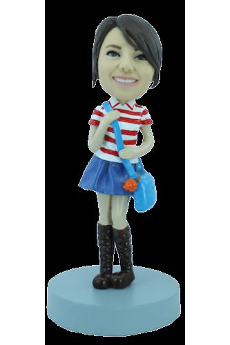 Figurine personnalisée d'étudiante