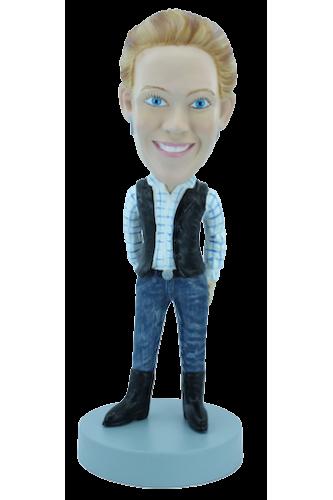Figurine personnalisée en fan de country