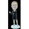 Figurine personnalisée en femme élégante