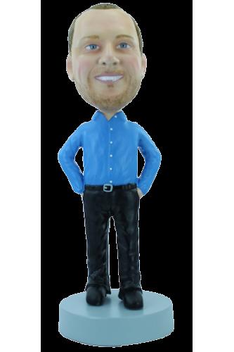 Figurine personnalisée en homme élégant