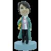 Figurine personnalisée femme frileuse