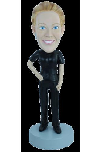 Figurine personnalisée j'aime le noir