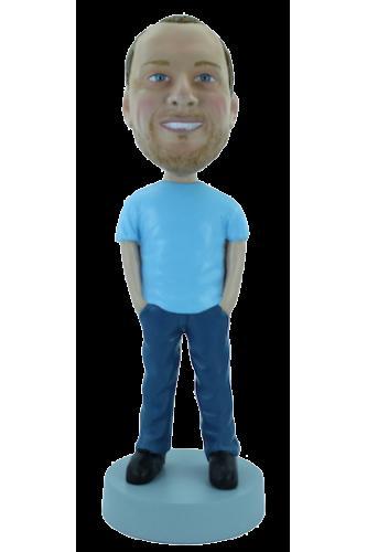 Figurine personnalisée en Jean & T-shirt