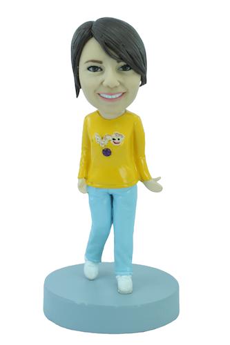 Figurine personnalisée en Trop Mimie