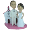 Figurine personnalisée mariage à l'église