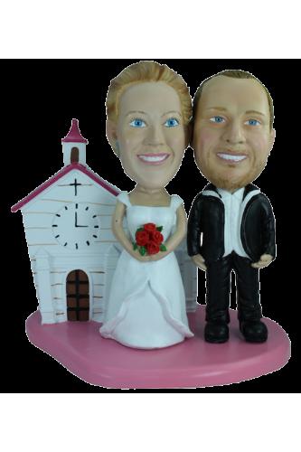 Figurine personnalisée mariage avec un décor
