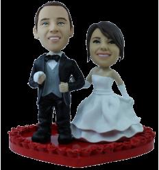 "Custom wedding bobbleheads ""Wedding of love"""