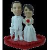 Figurine personnalisée mariage pluvieux mariage heureux