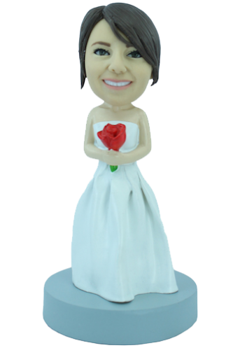 Figurine personnalisée en mariée
