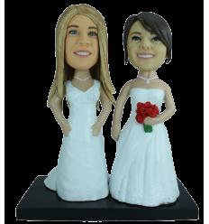 Figurine personnalisée mariage lesbien