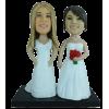 Custom lesbian wedding bobbleheads