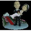 Figurine personnalisée mariage devant la mairie