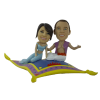 Figurine personnalisée mariage oriental