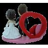 Figurine personnalisée mariage porte photo coeur