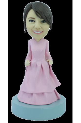 Figurine personnalisée en robe de soirée