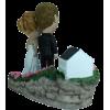 Figurine mariage personnalisé avec une église