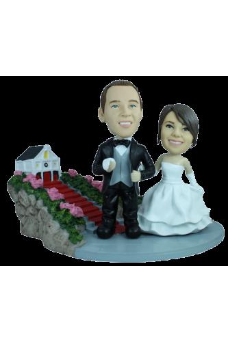 Custom wedding bobbleheads