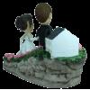 Figurine mariage personnalisé devant la mairie