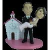 Figurine mariage personnalisé à l'église