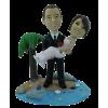 Figurine personnalisée mariage sur une île