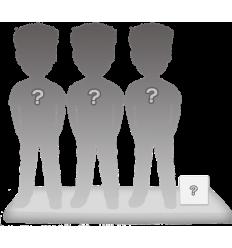 Figurines personnalisées de 3 personnes avec accessoire taille S