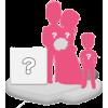 Figurine personnalisée mariage (100%) + 1enfant + décor XL