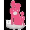 Custom wedding bobbleheads + 1 Kid + Background size M