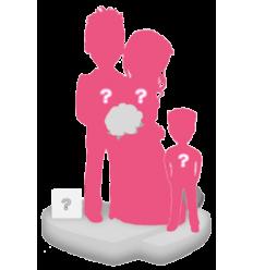 100% personalisierte Hochzeitspaar Figuren + 1 Kind + Dekor Größ S