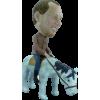 Custom bobblehead on horseback