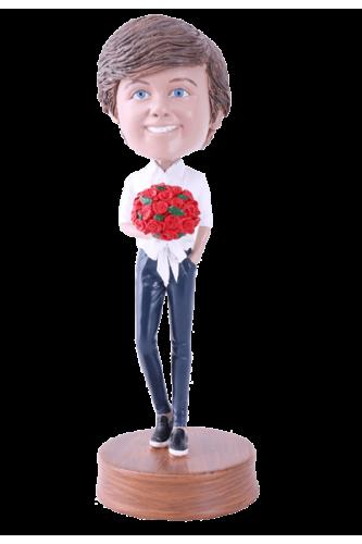 Figurine personnalisée fleurs