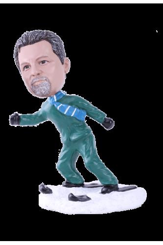 Figurine personnalisée skieur