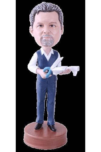 Figurine personnalisée couturier