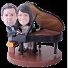 Figurine personnalisée pianiste