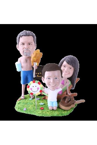 Figurine personnalisée barbecue
