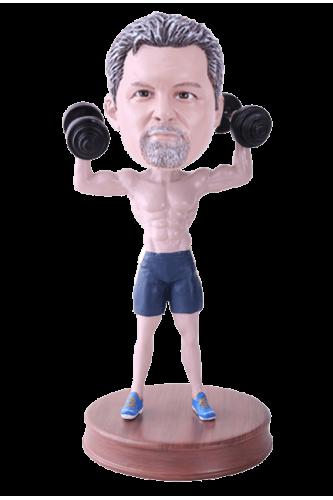 Figurine personnalisée musculation