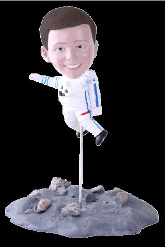 Figurine personnalisée astronaute lune