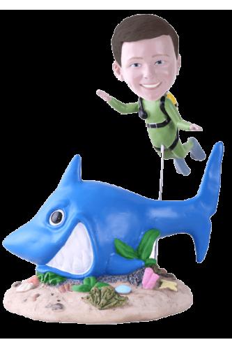 Figurine personnalisée plongée