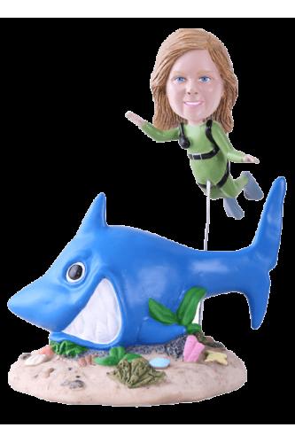 Figurine personnalisée plongée sous marine
