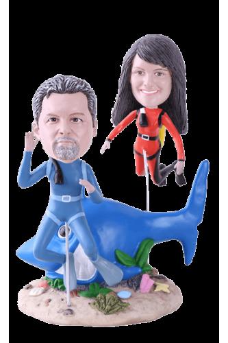 Figurine personnalisée plongeur