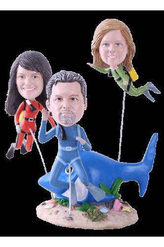 Figurine personnalisée plongeurs