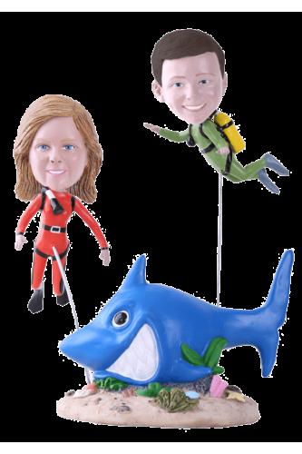 Figurine personnalisée enfants plongée