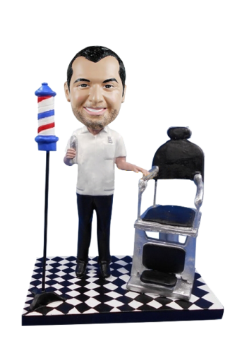 Custom bobblehead barber