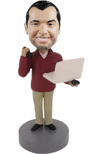 Figurine personnalisée ordinateur