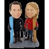 Figuras personalizadas de pareja esquiadores