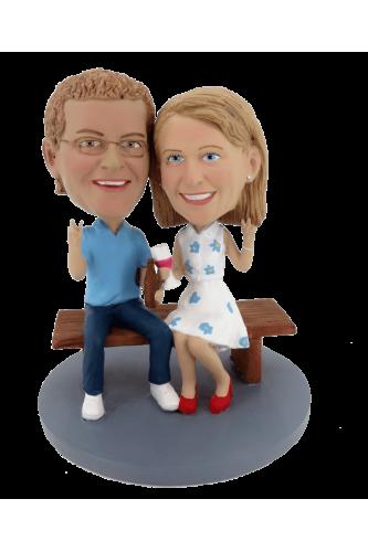Figuras personalizadas de pareja nuestro encuentro