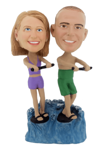 Figurine personnalisée ski nautique